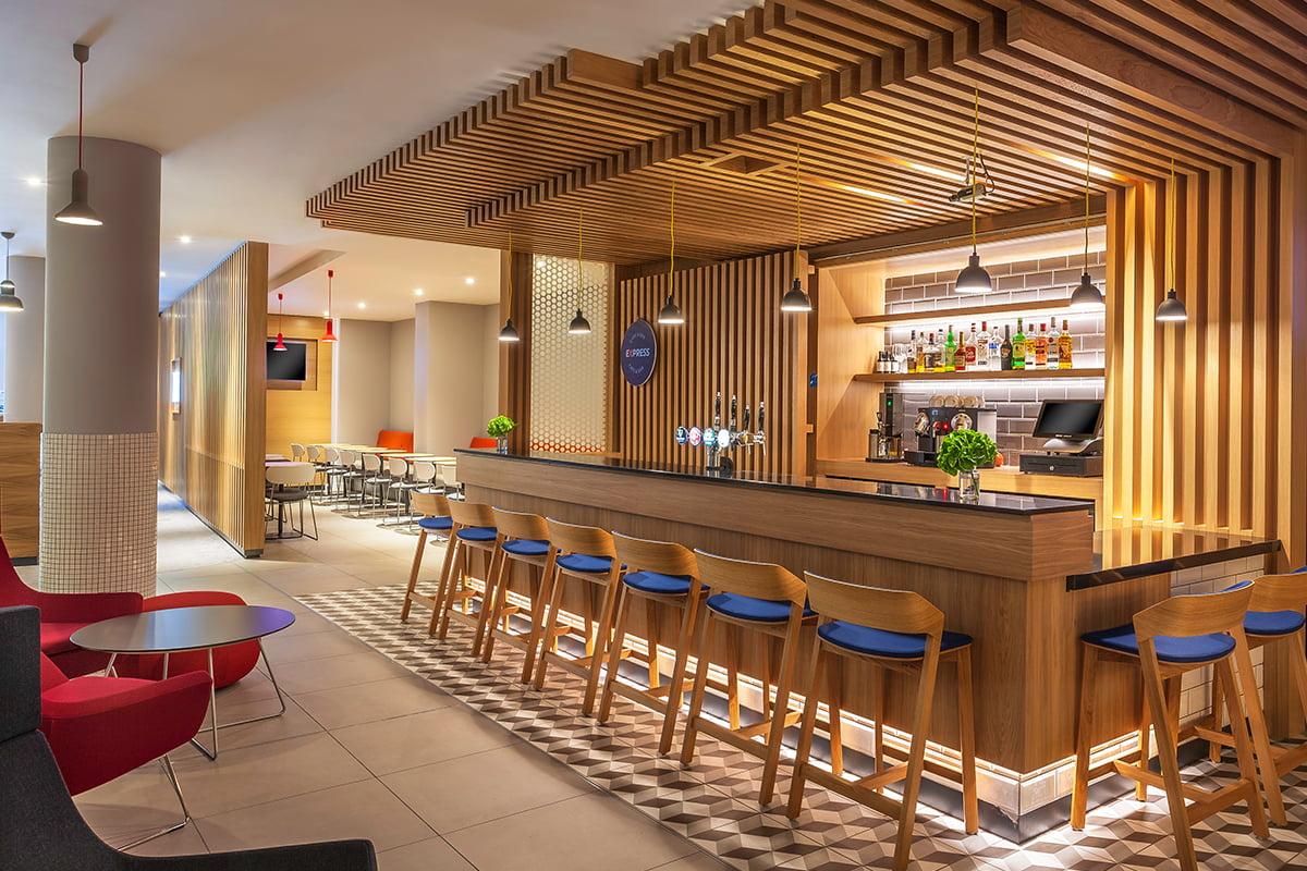 bar dinner seating area